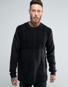 Джемпер с вязкой косичкой Cheap Monday - Черный