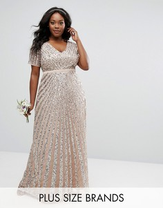Платье макси с отделкой пайетками Lovedrobe Luxe - Серый
