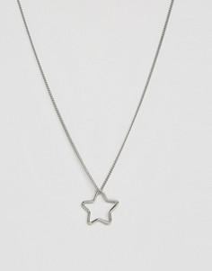Длинное ожерелье со звездой Pieces Livy - Серебряный