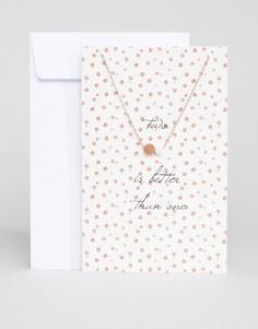 Изысканное ожерелье с открыткой Pieces Lala - Золотой