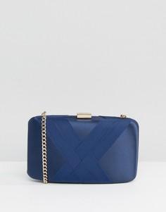 Твердая сумка-клатч с отделкой летами Dune - Темно-синий