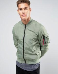 Зеленая нейлоновая куртка-пилот Hilfiger Denim - Зеленый