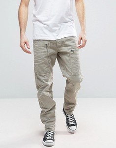 Суженные книзу джинсы карго G-Star Powel 3D - Бежевый