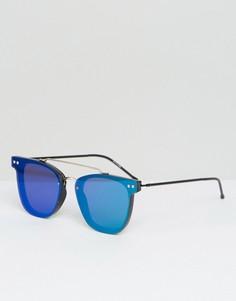 Солнцезащитные очки с двойной переносицей и зеркальными плоскими стеклами Spitfire - Зеленый