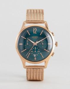 Часы с хронографом Henry London Stratford - Золотой