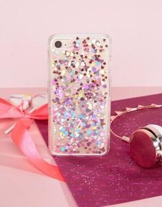 Чехол для iPhone 7 из гибкого пластика с сердцами Skinnydip - Мульти