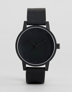 Черные часы с кожаным ремешком SWCO Kent 38 мм - Черный Simple Watch Company