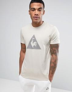 Бежевая футболка с логотипом Le Coq Sportif - Бежевый