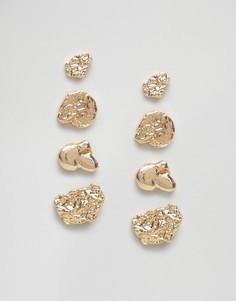Ярусные серьги Monki - Золотой