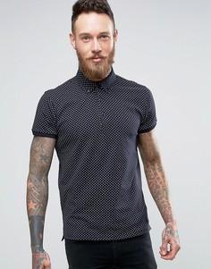 Трикотажная футболка-поло Scotch & Soda - Темно-синий