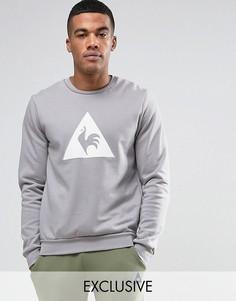 Серый свитшот с логотипом Le Coq Sportif - Серый