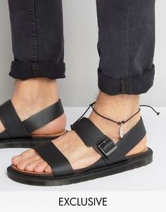 Браслет на ногу с подвеской-пером Reclaimed Vintage - Черный