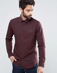 Строгая рубашка слим Farah Berbick - Красный