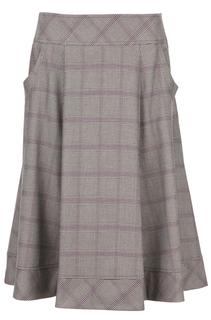 Струящаяся юбка с принтом в клетку и карманами La Reine Blanche