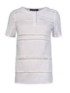 футболка с шитьем La Reine Blanche