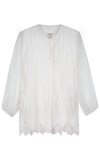 блузка с перфорацией и вышивкой S.Oliver