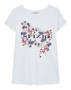Футболка с цветочным принтом Sfizio