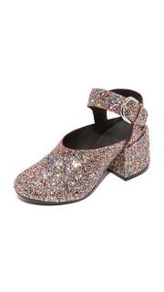 Туфли в стиле «Мэри Джейн» с расширяющимся каблуком MM6