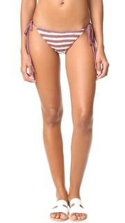 Вязаные крючком плавки бикини с завязками по бокам Mara Hoffman
