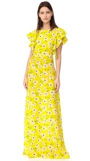 Вечернее платье с принтом Rochas