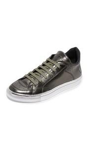 Кожаные кроссовки на шнуровке MM6