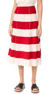 Расклешенная юбка в полоску Rossella Jardini