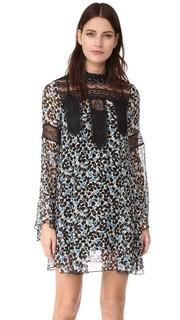 Платье Clover Flower с воротником под горло Anna Sui