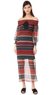 Макси-платье с открытыми плечами English Factory