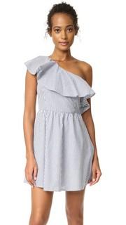 Платье в полоску с открытым плечом J.O.A.