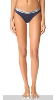 Блестящие трусики-танга из хлопка Calvin Klein Underwear