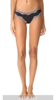 Трусики с низкой талией с кружевной отделкой Calvin Klein Underwear