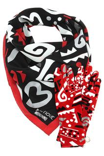 Комплект: платок, перчатки Moschino