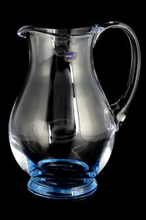 Графин 1,5 л синий Bohemia Crystall