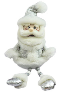 Кукла Дед Мороз 45 см, серебро НОВОГОДНЯЯ СКАЗКА