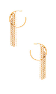 Hoop chain earrings - Ettika