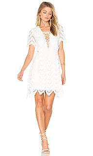 Lace up crochet mini dress - J.O.A.