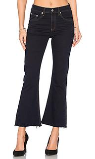 Укороченные расклешенные джинсы с обрезанным подолом - rag & bone/JEAN