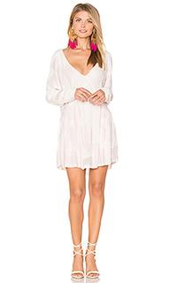 Мини платье с отделкой бисером - Tessora