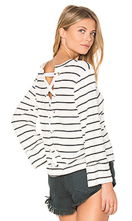 Dune stripe lace up back top - Splendid