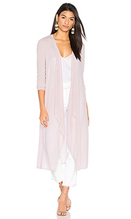 The draped duster cardigan - BROWN ALLAN