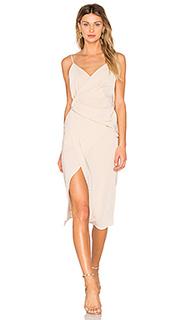 Платье с асимметричным подолом leona - Donna Mizani