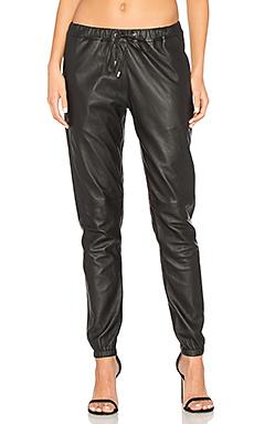 Кожаные брюки camden - sen