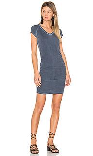 Ruched v neck mini dress - SUNDRY