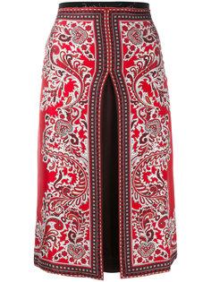 юбка с узором пейсли Alexander McQueen