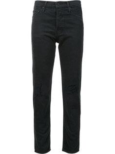 рваные джинсы кроя скинни Mother