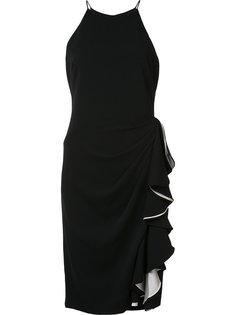 платье с оборками Badgley Mischka