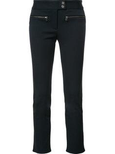 укороченные брюки с карманами на молнии Veronica Beard