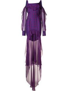 многослойное платье в горошек J. Mendel
