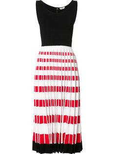 платье миди с плиссировкой Fendi