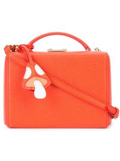 маленькая сумка на плечо Grace Box with Mushroom Charm  Mark Cross